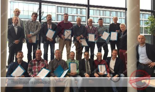 HU-CvNT feliciteert geslaagden Cohort Maart 2015 NEN2767-Inspecteur.