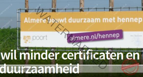 Interessant artikel : Bouw wil minder certificaten en meer echte duurzaamheid
