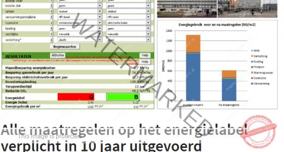 Interessant Artikel : Alle maatregelen energielabel verplicht in 10 jaar uitgevoerd
